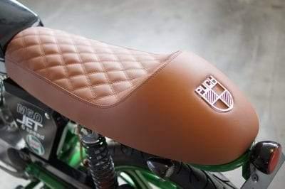 Puch M 50 Sitzbank mit braunem Motorradkunstleder